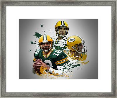 Aaron Rodgers Packers Framed Print