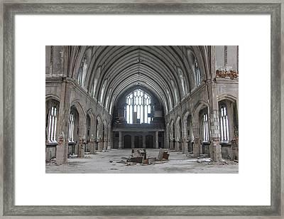 Abandoned Church In Detroit  Framed Print