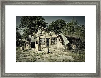 Abandoned Gas Station Framed Print