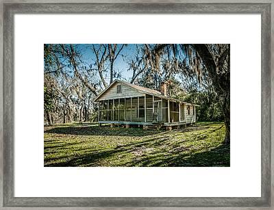 Abandoned House Old Cahawba Framed Print by Phillip Burrow