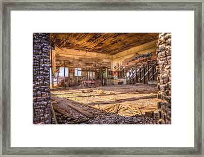 Abandoned School House Framed Print