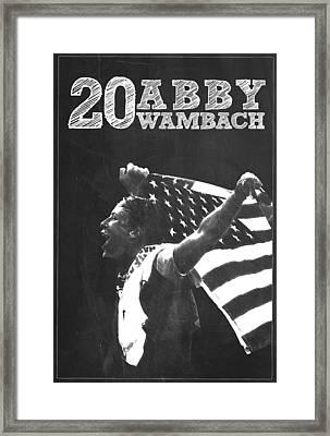 Abby Wambach Framed Print by Semih Yurdabak