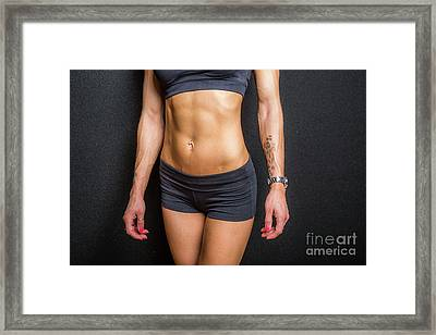 Abdominal Muscles Framed Print
