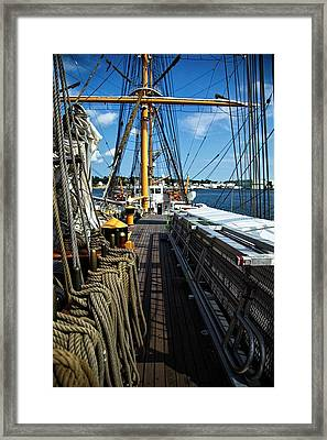 Aboard The Eagle Framed Print by Karol Livote