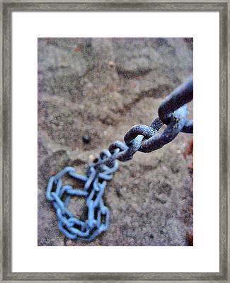 about LOVE. Iron chain. Framed Print by Andy Za