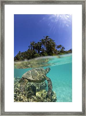 Above N Below Framed Print