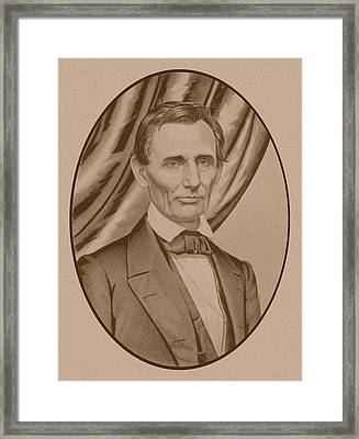 Abraham Lincoln Circa 1860  Framed Print by War Is Hell Store