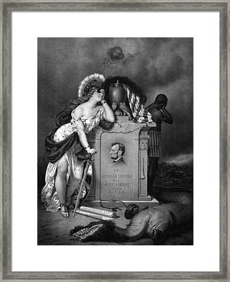 Abraham Lincoln -- In Memoriam Framed Print by War Is Hell Store