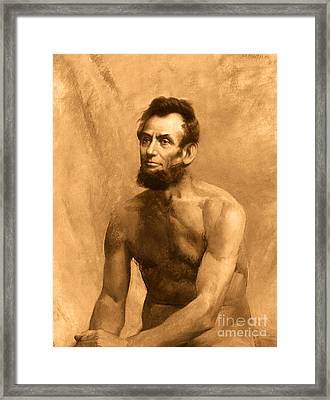 Abraham Lincoln Nude Framed Print by Karine Percheron-Daniels