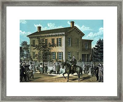 Abraham Lincoln's Return Home Framed Print by War Is Hell Store