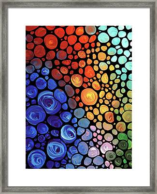 Underwater Diva Framed Print featuring the painting Abstract 1 by Sharon Cummings