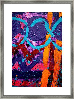 Abstract 10316 / Cropped Framed Print