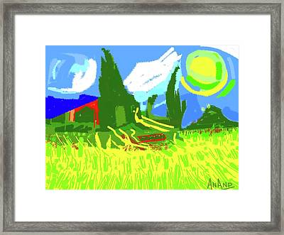 Abstract-6 Framed Print by Anand Swaroop Manchiraju