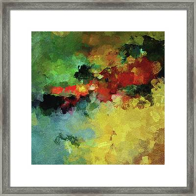 Framed Print featuring the painting Abstract And Minimalist  Landscape Painting by Ayse Deniz
