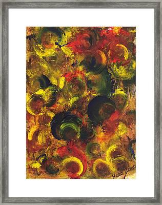 Abstract Art Framed Print by Hema Rana