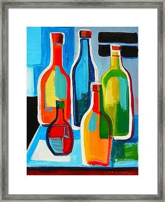 Abstract Bottles Framed Print