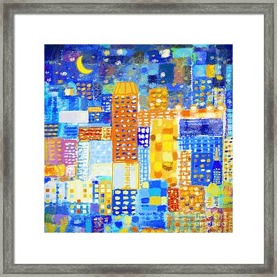 Abstract City Framed Print by Setsiri Silapasuwanchai