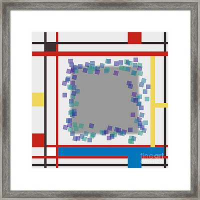 Abstract Composition 06 Piet Mondrian Style Framed Print