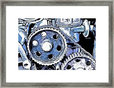 Abstract Detail Of The Old Engine Framed Print by Michal Boubin