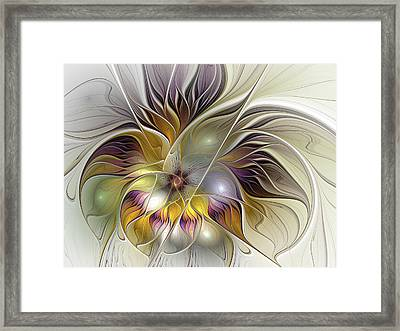 Abstract Fantasy Flower Framed Print