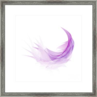 Framed Print featuring the painting Abstract Feather by Setsiri Silapasuwanchai