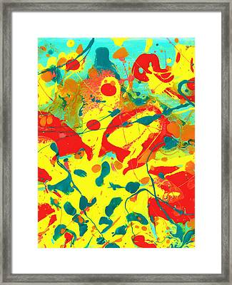 Abstract Floral Fantasy Panel B Framed Print by Amy Vangsgard