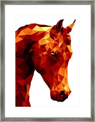 Abstract Horse Framed Print by Gallini Design