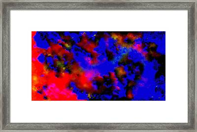 Framed Print featuring the painting Abstract In The Sky by Sherri  Of Palm Springs