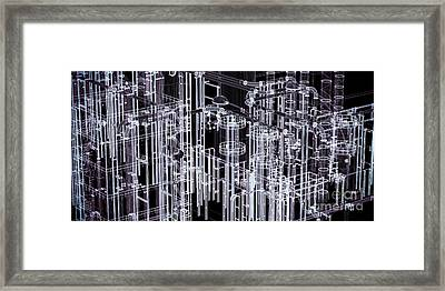 Abstract Industrial And Technology Banner Background Framed Print