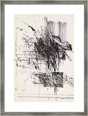 Abstract Ink Design Framed Print