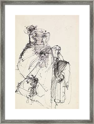 Abstract Ink Drawing Framed Print