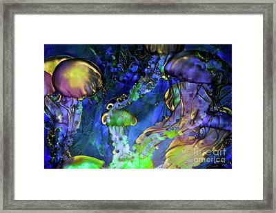 Abstract Jellyfish Framed Print
