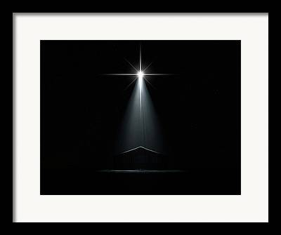 Nativity Digital Art Framed Prints