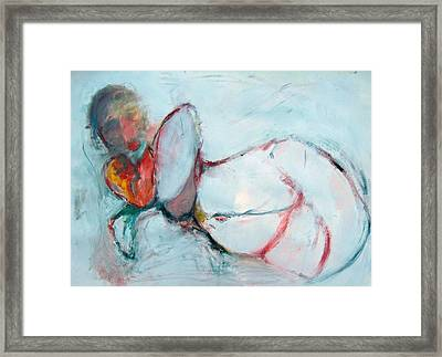 Abstract Nude Framed Print by Brooke Wandall