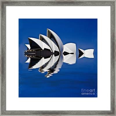 Abstract Of Sydney Opera House Framed Print by Avalon Fine Art Photography