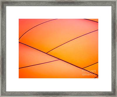 Abstract Orange Framed Print by Caffrey Fielding