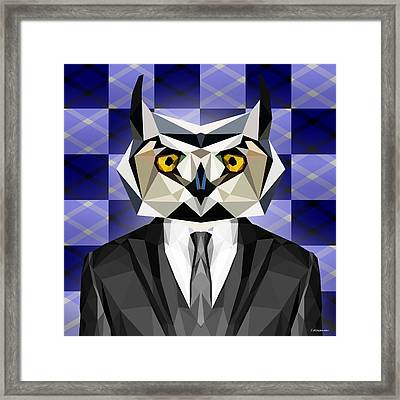Abstract Owl Framed Print by Gallini Design