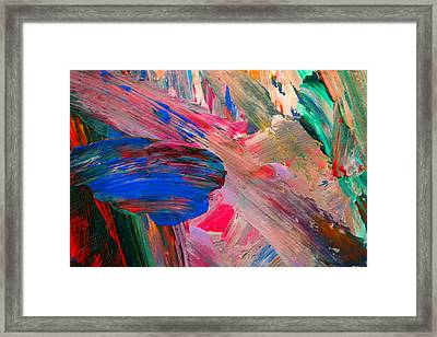 Abstract Paint Framed Print by Jeff Swan
