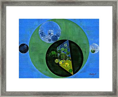 Framed Print featuring the digital art Abstract Painting - Amazon by Vitaliy Gladkiy