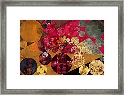 Abstract Painting - Antique Brass Framed Print