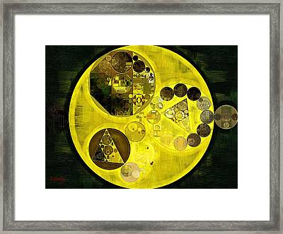 Abstract Painting - Barberry Framed Print