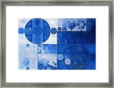 Abstract Painting - Beau Blue Framed Print by Vitaliy Gladkiy