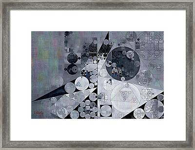 Abstract Painting - Black Pearl Framed Print