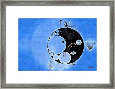 Abstract Painting - Bleu De France Framed Print by Vitaliy Gladkiy