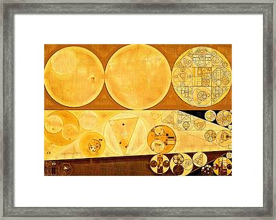 Abstract Painting - Bordeaux Framed Print