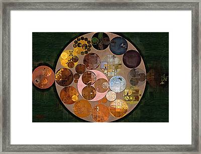 Abstract Painting - Calico Framed Print