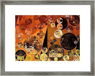 Abstract Painting - Casablanca Framed Print