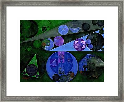 Abstract Painting - Catalina Blue Framed Print by Vitaliy Gladkiy