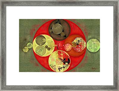 Abstract Painting - Chilean Fire Framed Print by Vitaliy Gladkiy