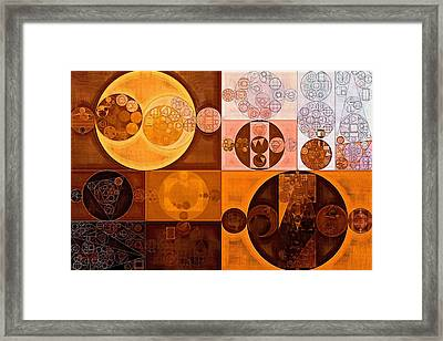 Abstract Painting - Cinnamon Framed Print